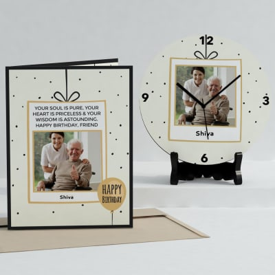 Delightful Personalized Birthday Clock & Card Combo: Gift/Send ...