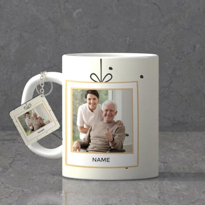 Delightful Personalized Birthday Keychain Mug Combo