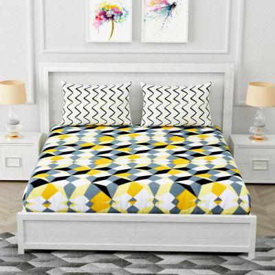 Designer Bedsheet with Geometric Patterns