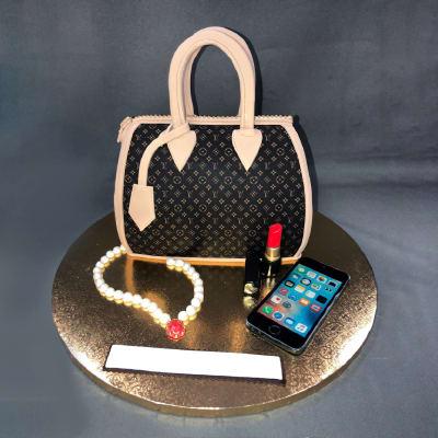 Designer Handbag Shaped Fondant Cake (3.5 Kg)