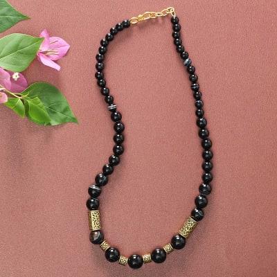 Designer Jade Black Beads Necklace