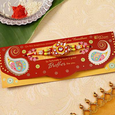 Designer Multicolor Beaded Rakhi