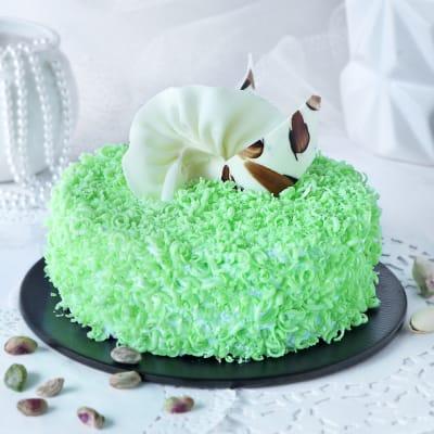 Designer Pistachio Cake (Eggless) (1 Kg)