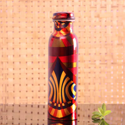 Designer Pure Copper Water Bottle