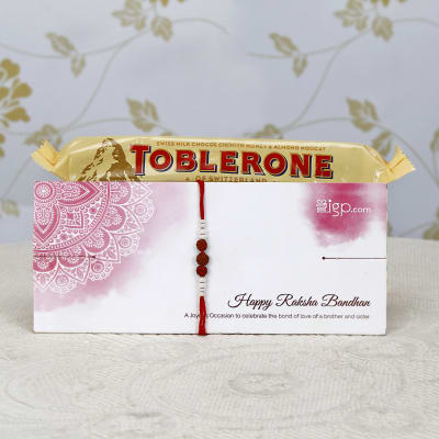 Designer Rakhi with Toblerone Chocolates