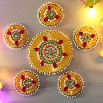 Designer Rangoli in Pearl & Beads Work