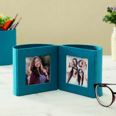Desk Photo Frame with Pen Stand