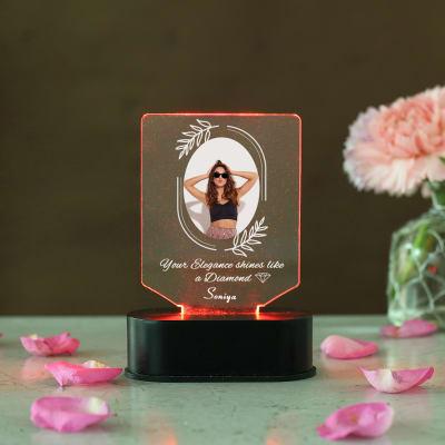 Diamond Elegance Personalized LED Photo Frame