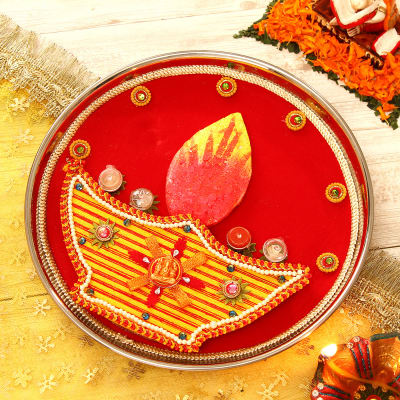 Diya Designed Tikka Thali