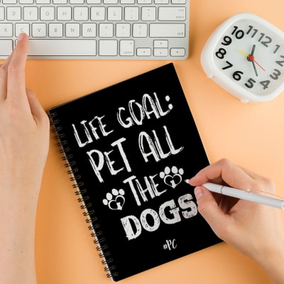 Dog Lover Personalized Notebook
