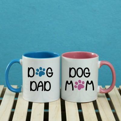 Dog Parents Personalized Mug Set