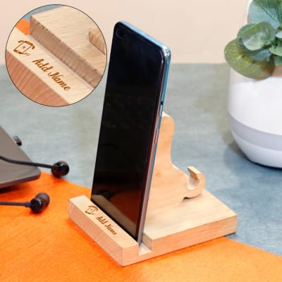 Dog Shaped Personalized Wood Mobile Stand