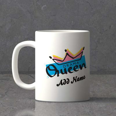 Drama Queen Personalized White Mug