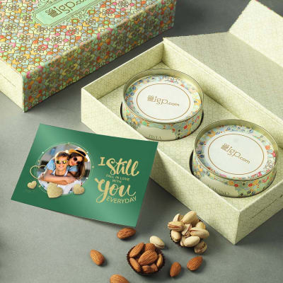 Dry Fruit Box with Personalized Anniversary Card