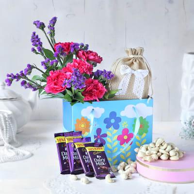 Dry Fruits & Cadbury Chocolates in Gift Bag