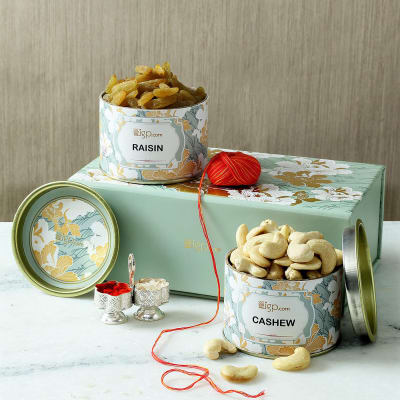 Dry Fruits Gift Box with Roli, Chawal Container