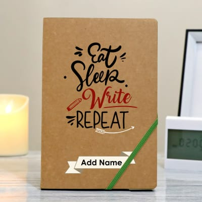 Eat Sleep Write Repeat Personalized Notebook