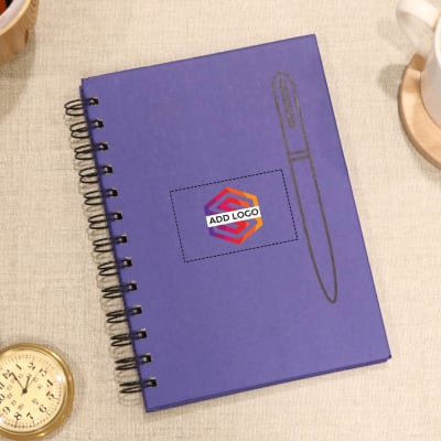 Eco Friendly Spiral Notebook - Customized with Logo