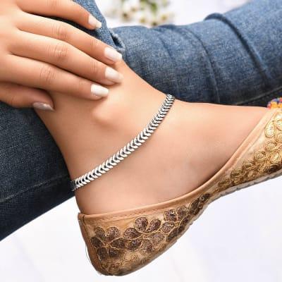 Elegant And Stylish Oxidised Anklet