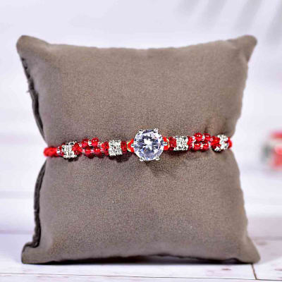 Send gifts to new zealand online flowers cakes delivery in new elegant bead work ad rakhi negle Images