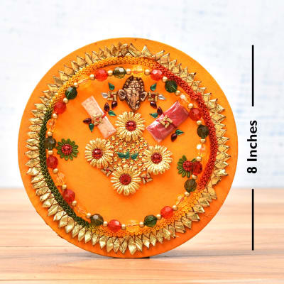 Elegant Bhaidooj Tikka Thali