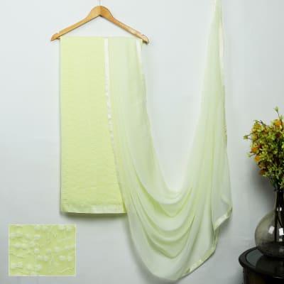 Elegant Lakhnavi Chikan Dress Material