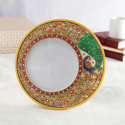 Elegant Meena Painting Marble Photo Frame