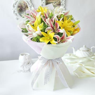 Elegant Mix of Lilies