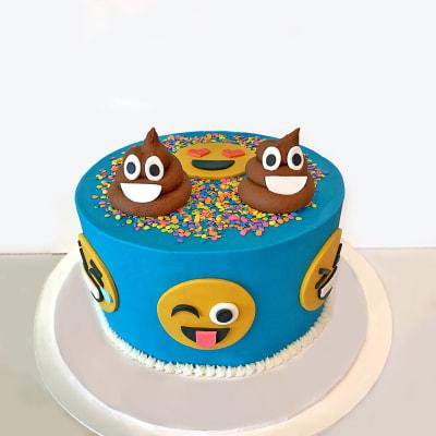 Emoji Semi Fondant Cake - (4 Kg)