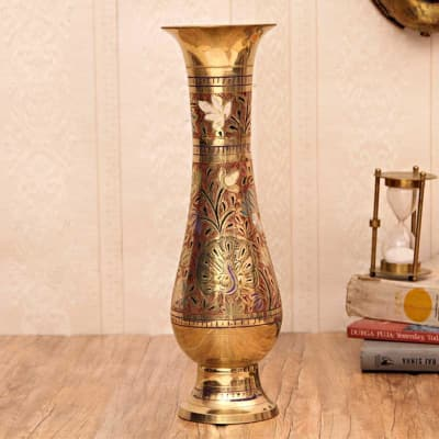 Engraved Brass Flower Vase Giftsend Home And Living Gifts Online