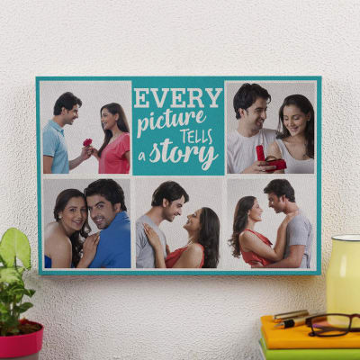 Every Picture's a Story Personalized A3 Canvas