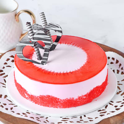 Miraculous Order Exotic Strawberry Cake 1 Kg Online At Best Price Free Personalised Birthday Cards Akebfashionlily Jamesorg
