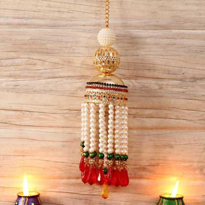 Fabulous Metallic Pearl Hanging
