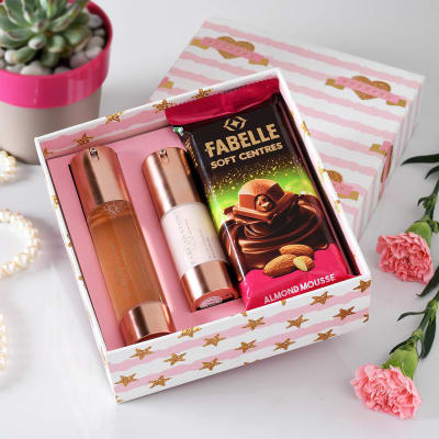 Face Wash & Moisturizer with Chocolate in Gift Box
