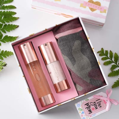 Face Wash & Moisturizer with Stole in Gift Box