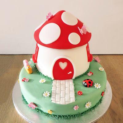 Fairytale Toadstool House Fondant Cake (3.5 Kg)