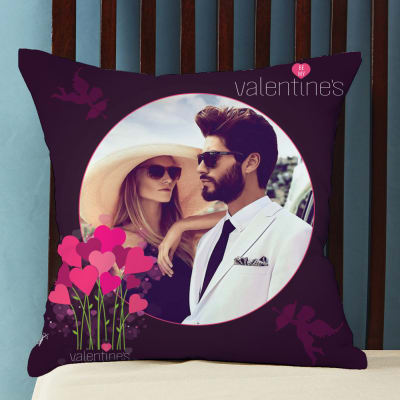 Fall in Love with Me Personalized Valentine Cushion