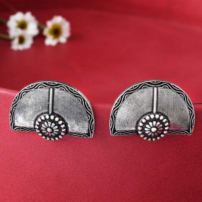 Fan Inspired Stud Earrings