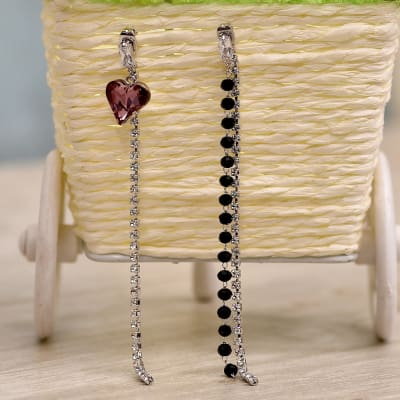 Fashionable Long Swarovski Earrings in a Gift Box
