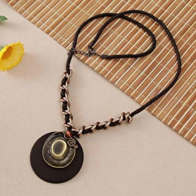 Fashionable Pendant with Leather String