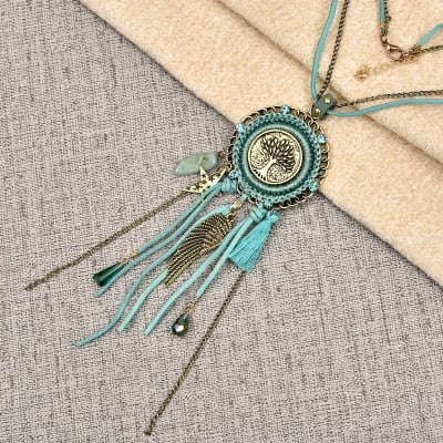 Fashionable Sky BlueTassel Pendant