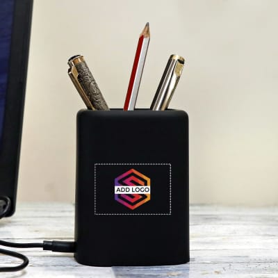 Fast Charging Desk buddy with Light up Logo