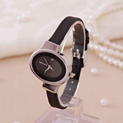Fastrack Stylish Black Wrist Watch