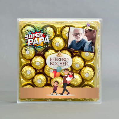 Father's day Special Personalised Box of Delicious Ferrero Rocher Chocolates (24 pcs)