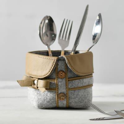 Felt and PU Cutlery Holder