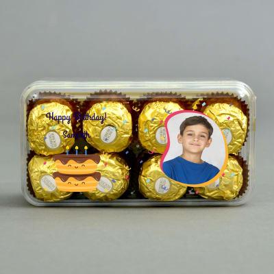 Ferrero Rocher Chocolates in Personalized Box for Birthday Boy
