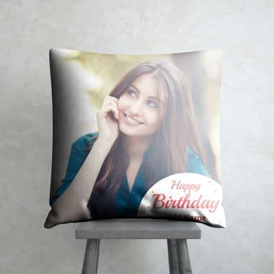 Festoons Personalized Birthday Cushion