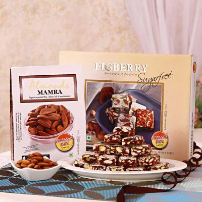 Krishna janmashtami 2016 send janmashtami gifts online in india figberry sugarfree 35 cubes with almonds mamra hamper negle Images