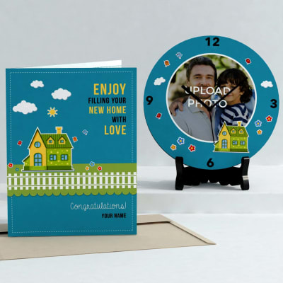 Fill your home with love Personalized Clock & Card combo