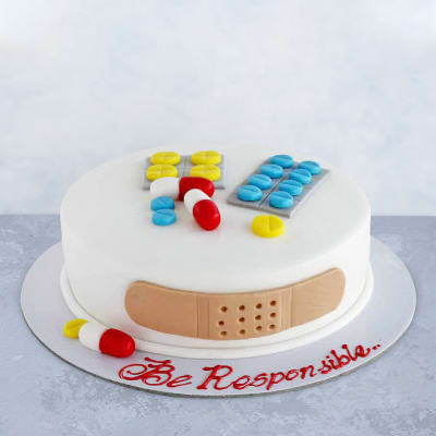 First Aid Kit Shaped Fondant Cake (2 Kg)